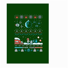 That Snow Moon Star Wars  Ugly Holiday Christmas Green Background Large Garden Flag (two Sides)