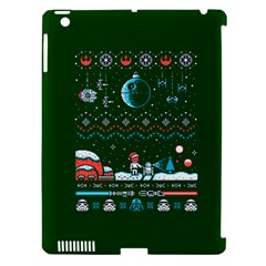 That Snow Moon Star Wars  Ugly Holiday Christmas Green Background Apple Ipad 3/4 Hardshell Case (compatible With Smart Cover)