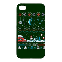 That Snow Moon Star Wars  Ugly Holiday Christmas Green Background Apple Iphone 4/4s Premium Hardshell Case