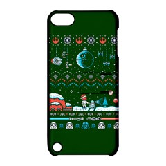 That Snow Moon Star Wars  Ugly Holiday Christmas Green Background Apple Ipod Touch 5 Hardshell Case With Stand