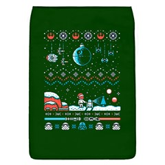 That Snow Moon Star Wars  Ugly Holiday Christmas Green Background Flap Covers (s)