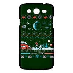 That Snow Moon Star Wars  Ugly Holiday Christmas Green Background Samsung Galaxy Mega 5 8 I9152 Hardshell Case