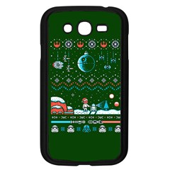 That Snow Moon Star Wars  Ugly Holiday Christmas Green Background Samsung Galaxy Grand Duos I9082 Case (black)