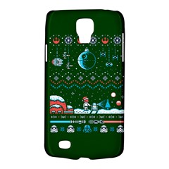 That Snow Moon Star Wars  Ugly Holiday Christmas Green Background Galaxy S4 Active