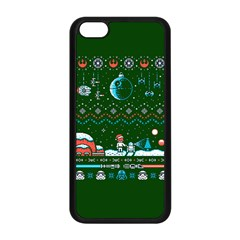 That Snow Moon Star Wars  Ugly Holiday Christmas Green Background Apple Iphone 5c Seamless Case (black)