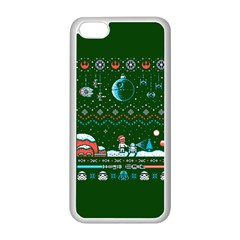 That Snow Moon Star Wars  Ugly Holiday Christmas Green Background Apple Iphone 5c Seamless Case (white)
