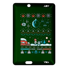 That Snow Moon Star Wars  Ugly Holiday Christmas Green Background Amazon Kindle Fire Hd (2013) Hardshell Case