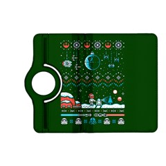That Snow Moon Star Wars  Ugly Holiday Christmas Green Background Kindle Fire Hd (2013) Flip 360 Case
