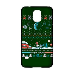 That Snow Moon Star Wars  Ugly Holiday Christmas Green Background Samsung Galaxy S5 Hardshell Case