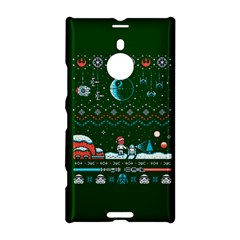 That Snow Moon Star Wars  Ugly Holiday Christmas Green Background Nokia Lumia 1520
