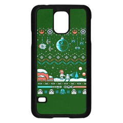 That Snow Moon Star Wars  Ugly Holiday Christmas Green Background Samsung Galaxy S5 Case (black)