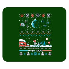 That Snow Moon Star Wars  Ugly Holiday Christmas Green Background Double Sided Flano Blanket (small)