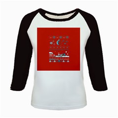 That Snow Moon Star Wars  Ugly Holiday Christmas Red Background Kids Baseball Jerseys