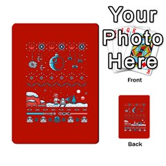 That Snow Moon Star Wars  Ugly Holiday Christmas Red Background Multi Purpose Cards (rectangle)