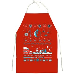 That Snow Moon Star Wars  Ugly Holiday Christmas Red Background Full Print Aprons