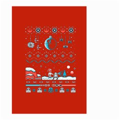 That Snow Moon Star Wars  Ugly Holiday Christmas Red Background Small Garden Flag (two Sides)