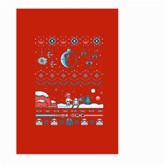 That Snow Moon Star Wars  Ugly Holiday Christmas Red Background Large Garden Flag (two Sides)