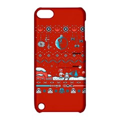 That Snow Moon Star Wars  Ugly Holiday Christmas Red Background Apple Ipod Touch 5 Hardshell Case With Stand