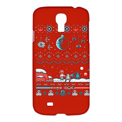 That Snow Moon Star Wars  Ugly Holiday Christmas Red Background Samsung Galaxy S4 I9500/i9505 Hardshell Case