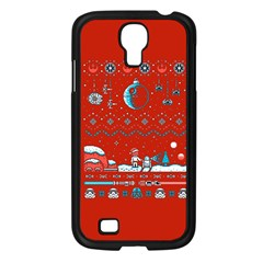 That Snow Moon Star Wars  Ugly Holiday Christmas Red Background Samsung Galaxy S4 I9500/ I9505 Case (black)