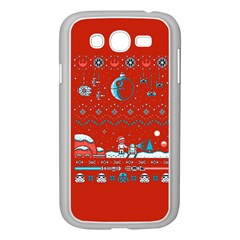 That Snow Moon Star Wars  Ugly Holiday Christmas Red Background Samsung Galaxy Grand Duos I9082 Case (white)