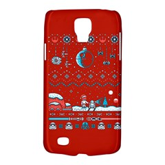 That Snow Moon Star Wars  Ugly Holiday Christmas Red Background Galaxy S4 Active