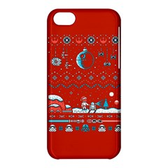 That Snow Moon Star Wars  Ugly Holiday Christmas Red Background Apple Iphone 5c Hardshell Case