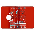 That Snow Moon Star Wars  Ugly Holiday Christmas Red Background Kindle Fire HDX Flip 360 Case Front