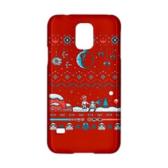 That Snow Moon Star Wars  Ugly Holiday Christmas Red Background Samsung Galaxy S5 Hardshell Case