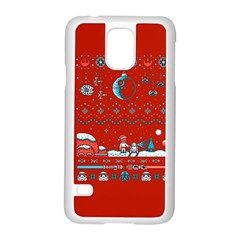 That Snow Moon Star Wars  Ugly Holiday Christmas Red Background Samsung Galaxy S5 Case (white)