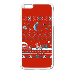 That Snow Moon Star Wars  Ugly Holiday Christmas Red Background Apple Iphone 6 Plus/6s Plus Enamel White Case