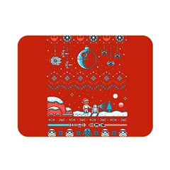 That Snow Moon Star Wars  Ugly Holiday Christmas Red Background Double Sided Flano Blanket (mini)