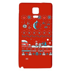 That Snow Moon Star Wars  Ugly Holiday Christmas Red Background Galaxy Note 4 Back Case