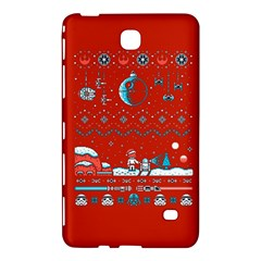 That Snow Moon Star Wars  Ugly Holiday Christmas Red Background Samsung Galaxy Tab 4 (7 ) Hardshell Case