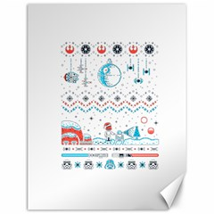 That Snow Moon Star Wars  Ugly Holiday Christmas Canvas 12  X 16