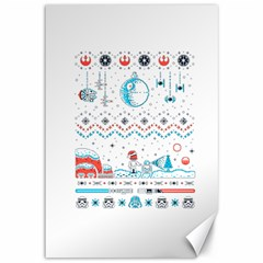 That Snow Moon Star Wars  Ugly Holiday Christmas Canvas 12  X 18