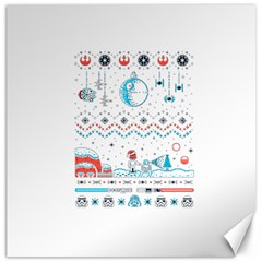 That Snow Moon Star Wars  Ugly Holiday Christmas Canvas 20  X 20