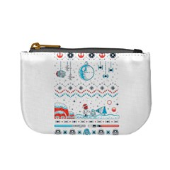 That Snow Moon Star Wars  Ugly Holiday Christmas Mini Coin Purses