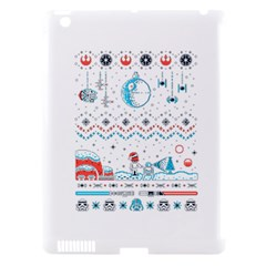 That Snow Moon Star Wars  Ugly Holiday Christmas Apple Ipad 3/4 Hardshell Case (compatible With Smart Cover)