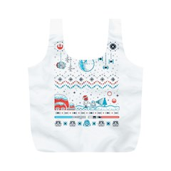 That Snow Moon Star Wars  Ugly Holiday Christmas Full Print Recycle Bags (m)