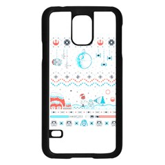That Snow Moon Star Wars  Ugly Holiday Christmas Samsung Galaxy S5 Case (black)