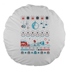 That Snow Moon Star Wars  Ugly Holiday Christmas Large 18  Premium Flano Round Cushions