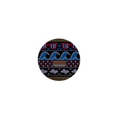 Ugly Summer Ugly Holiday Christmas Black Background 1  Mini Buttons