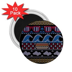 Ugly Summer Ugly Holiday Christmas Black Background 2.25  Magnets (10 pack)