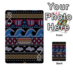 Ugly Summer Ugly Holiday Christmas Black Background Playing Cards 54 Designs