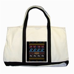 Ugly Summer Ugly Holiday Christmas Black Background Two Tone Tote Bag