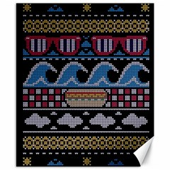 Ugly Summer Ugly Holiday Christmas Black Background Canvas 8  x 10