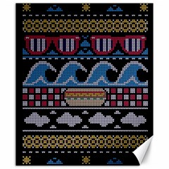 Ugly Summer Ugly Holiday Christmas Black Background Canvas 20  x 24