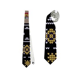 Ugly Summer Ugly Holiday Christmas Black Background Neckties (one Side)