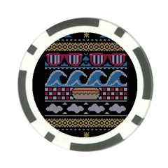 Ugly Summer Ugly Holiday Christmas Black Background Poker Chip Card Guards